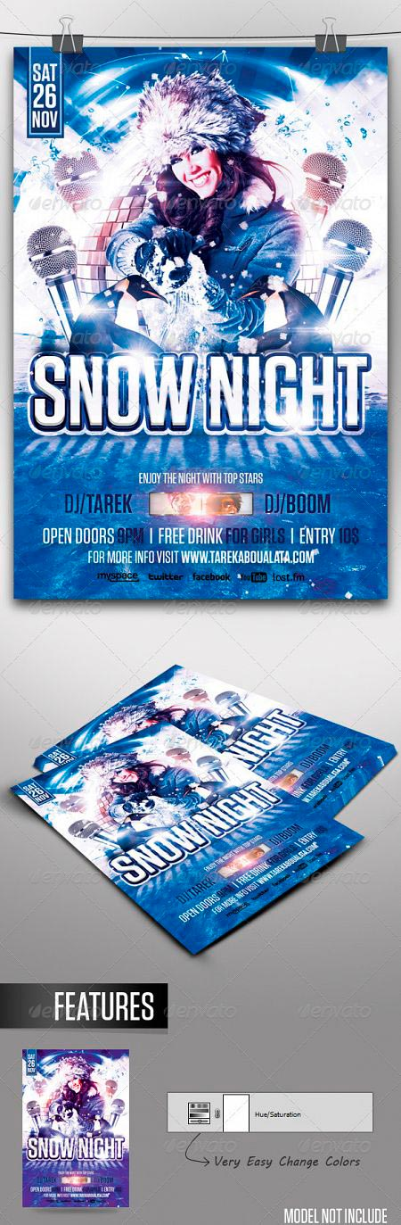 graphicriver-snow-night-flyer